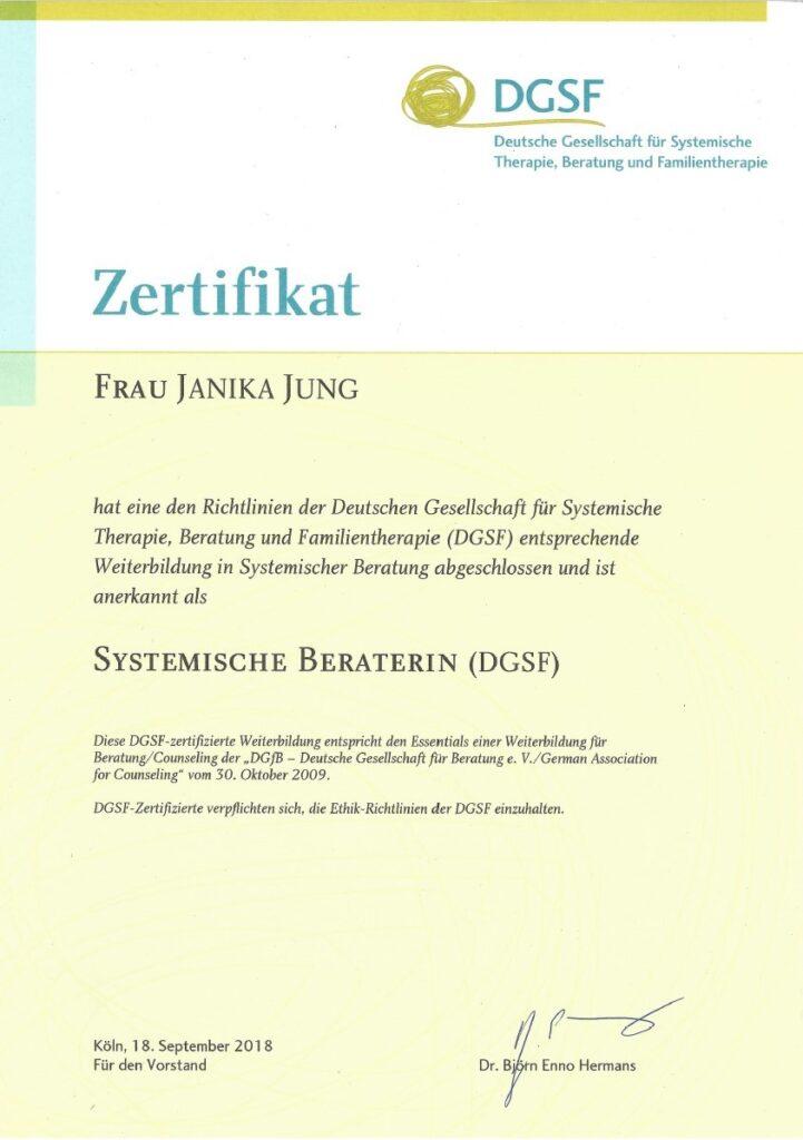 DGSF-Zertifikat